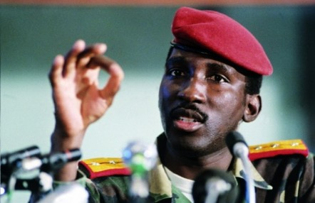 Captain Thomas Sankara stresses a point. Source: Internet
